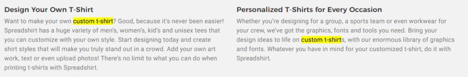 keywords example custom t-shirt 2