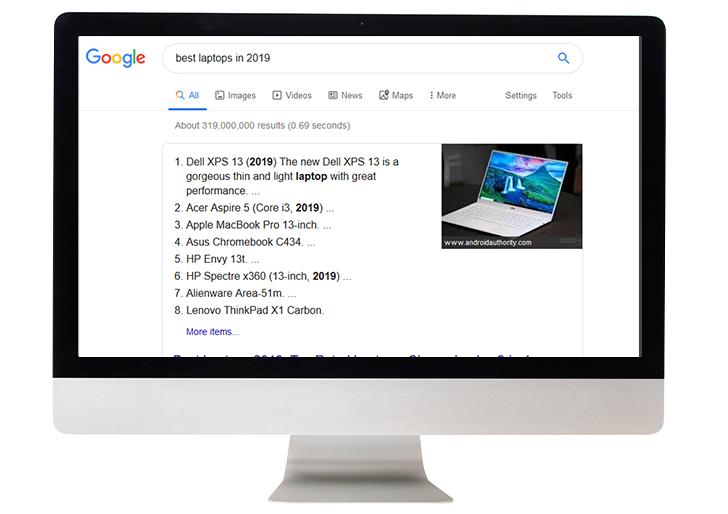 google-serp-commer