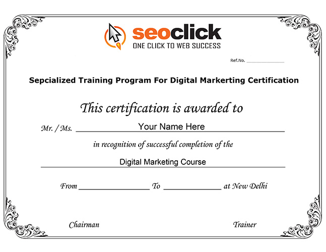 advance seo training certificate